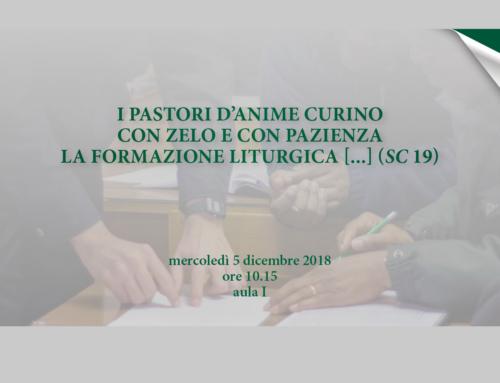 55ma GIORNATA DI STUDIO PER LA COMMEMORAZIONE DELLA SACROSANCTUM CONCILIUM