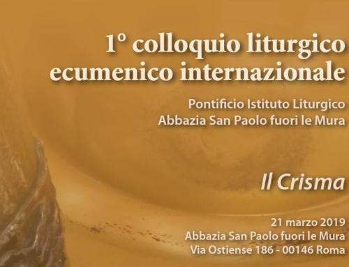 1° colloquio liturgico ecumenico internazionale. Pontificio Istituto Liturgico – Roma