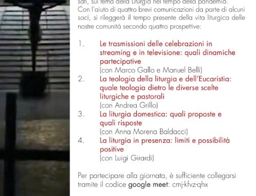 LA LITURGIA, ALLA PROVA DEL COVID – Seminario di Studio: registrazione